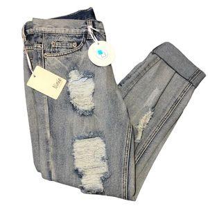 Ninie Distressed Skinny Jeans Sz 30 S NWT